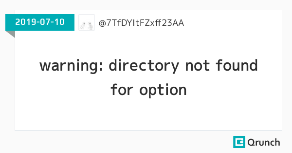 warning: directory not found for option