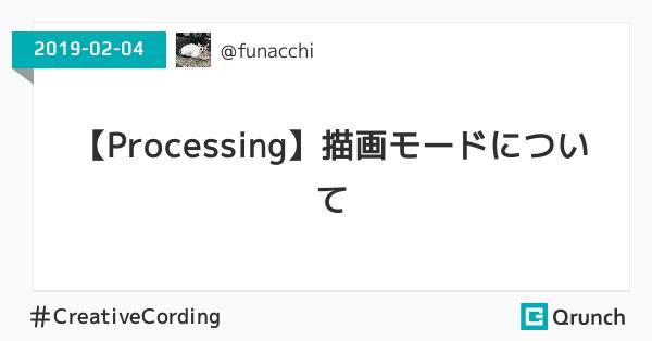 【Processing】描画モードについて