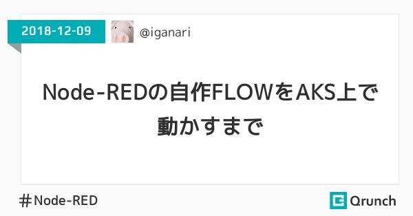 Node-REDの自作FLOWをAKS上で動かすまで