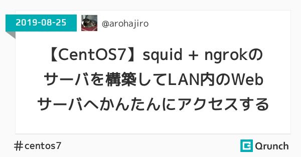 【CentOS7】squid + ngrokのサーバを構築してLAN内のWebサーバへかんたんにアクセスする