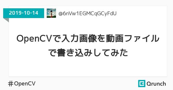 OpenCVで入力画像を動画ファイルに書き込みしてみた